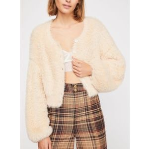 Free People Lola Cropped Cardigan Sweater